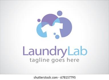Laundry Lab Logo Template Design