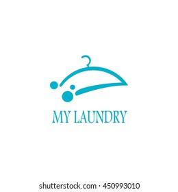 Laundry Logo Design template. Vector illustration. Flat style