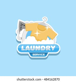 laundry logo template