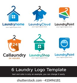 Laundry Logo Template Design Vector