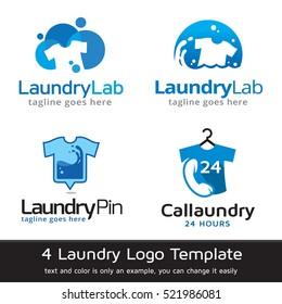 Laundry Logo Template Design Vector