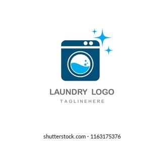 Laundry logo vector icon template