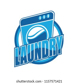 laundry logo for your business isolated on white background, vector illustration