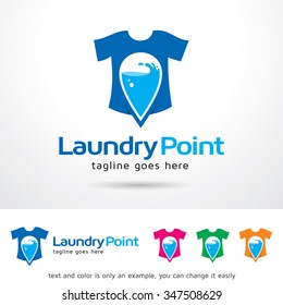 Laundry Point Logo Template Design Vector