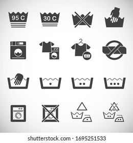 Laundry related icons set on background for graphic and web design. Creative illustration concept symbol for web or mobile app.