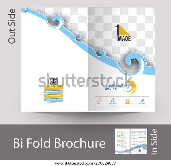 Laundry Service Bi-Fold Mock up & Brochure Design