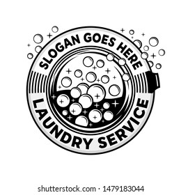 Laundry service logo. Vector and illustration,
