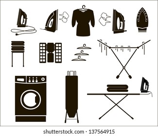 laundry. set of vector icons