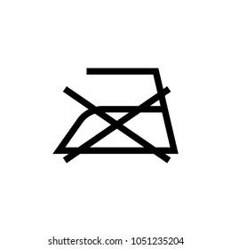 laundry symbol icon (Do not iron )