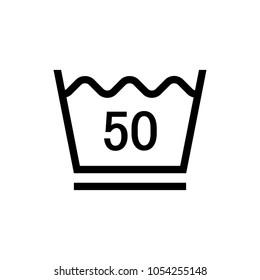 laundry symbol icon (Machine wash hot ( up to 50 degree) /permanent press)