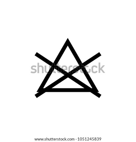 Laundry Symbol Icon No Bleach Stock Vector Royalty Free 1051245839