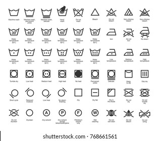 Laundry Vector Icons set, full collection - Shutterstock ID 768661561