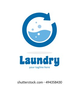 LAUNDRY WASH CLEAN LOGO ICON SYMBOL TEMPLATE