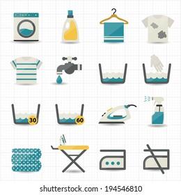 Laundry and Washing Icons