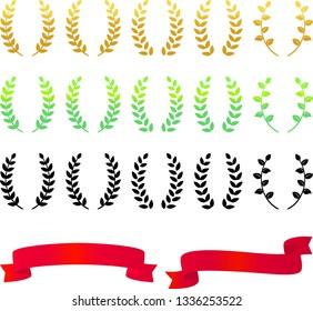 Laurel decoration set