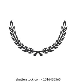 Laurel icon isolated on white background. Vector