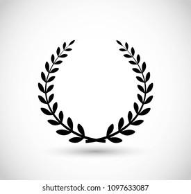 Laurel vector icon