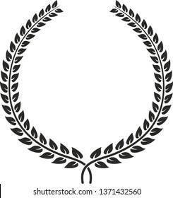 Laurel wreath created in CorelDraw