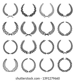 laurel wreath florals vector image on white background