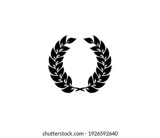Laurel Wreath Icon Design Template Elements