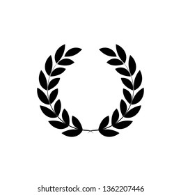 Laurel Wreath Icon Flat Style Vector Illustration Logo Template