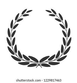 Laurel wreath icon isolated on white background. Vector illustration.