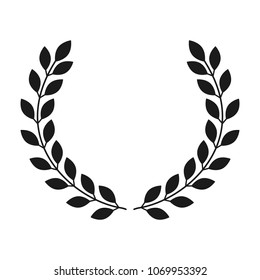 Laurel wreath icon on white background. Vector
