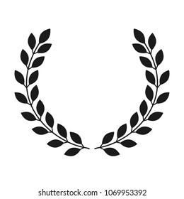 Laurel wreath icon on white background. Vector