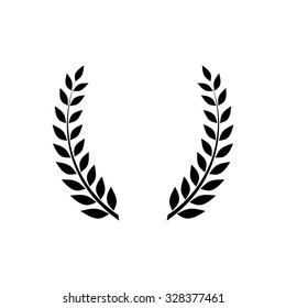 Laurel wreath icon - vector illustration
