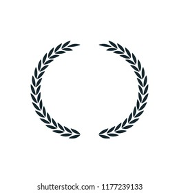 laurel wreath icon vector logo template