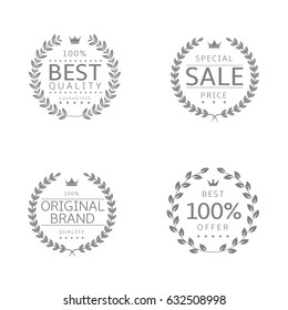 Laurel wreath icons. Best quality Sale Original brand Best offer