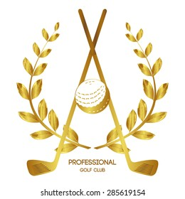 Laurel wreath. Professional Golf Club. Game. winner