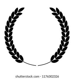 laurel wreath silhouette icon. Vector Illustration EPS10
