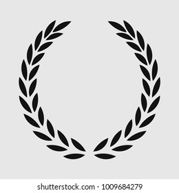 Laurel wreath, sports emblem, Icon Vector, stamp