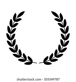 Laurel wreath - symbol of victory and power flat vector icon for apps and websites