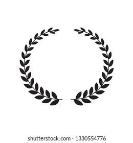 Laurel wreath vector flat style trendy