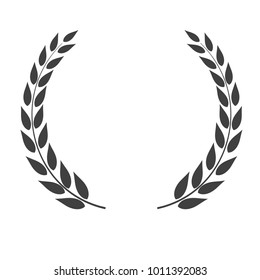 Laurel wreath vector shape isolated on white background