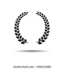 Laurel Wreaths. Flat vector web icon or sign on white background with shadow. eps 10.