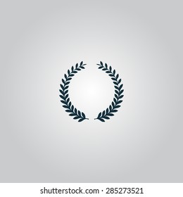 Laurel Wreaths. Flat web icon or sign isolated on grey background. Collection modern trend concept design style vector illustration symbol