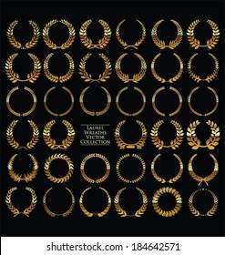 Laurel Wreaths Vector Collection