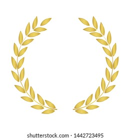 Laurel Wreaths Vector. GOLD Laurel