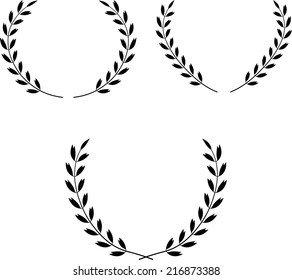 Laurel Wreaths Vector. Vector laurel wreaths. Laurel wreaths isolated