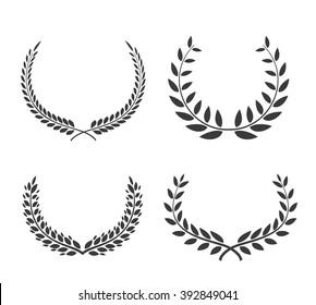 Laurel wreaths vector set. Victory vector element