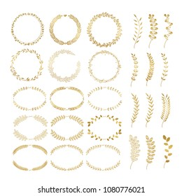 Laurels and wreaths. Design elements for invitations, greeting cards, quotes, blogs, posters and more. Perfect For Wedding Frames