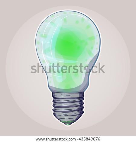 Lava Lamp Bulbs Format Environmentally Friendly Stock Vector
