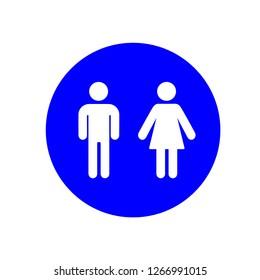 Lavatory Icon. Rest Room Signage. Toilet Symbol Vector. WC Illustration Logo Template.