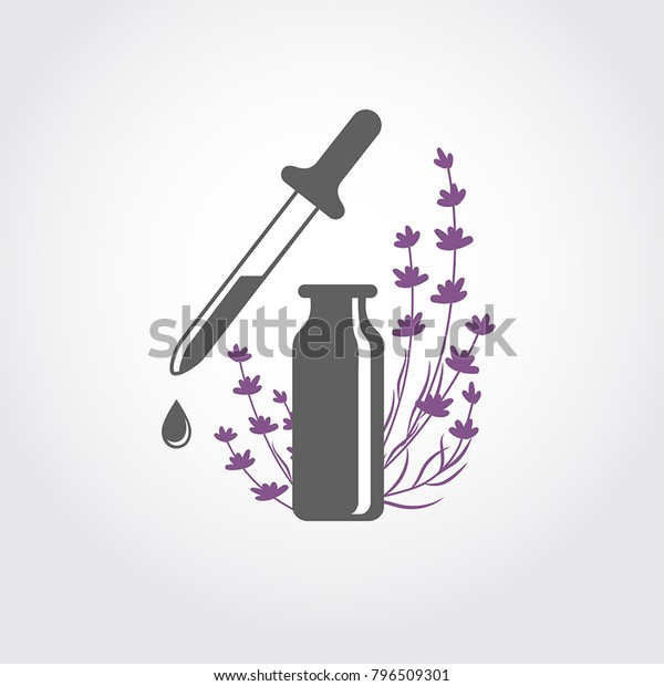 Lavender Essential Oil Logo Aromatherapy Logo Stock Vector Royalty Free 796509301