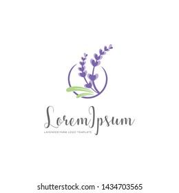 Lavender Family Farm Logo Template