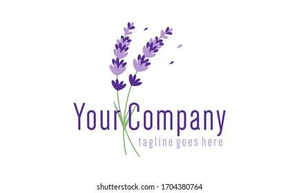 Lavender flowers for logo design concept editable