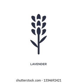 lavender icon. Simple element illustration from nature concept. lavender editable symbol design on white background. Can be use for web and mobile.